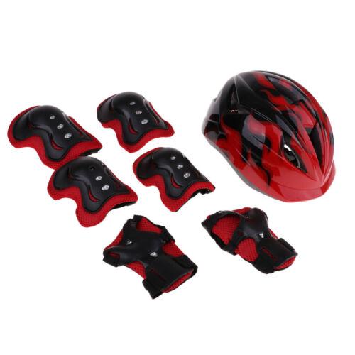 7Pcs Kids Roller Skating Scooter Bike Helmet Knee Elbow Pads Wrist Guard S M