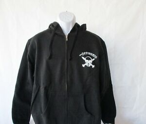 The Offspring Skull & Bombs Band Black Zip Hoodie - Men's Sizes M - XL NEW