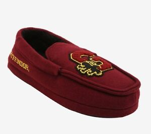 cfa198662a04a Details about HARRY POTTER: Gryffindor Moccasin Slippers - MEDIUM - Brand  New!