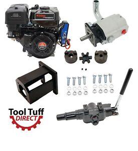 Details about Electric Start Log Splitter Build Kit: 9 hp Engine, 19 GPM  Pump, Control Valve