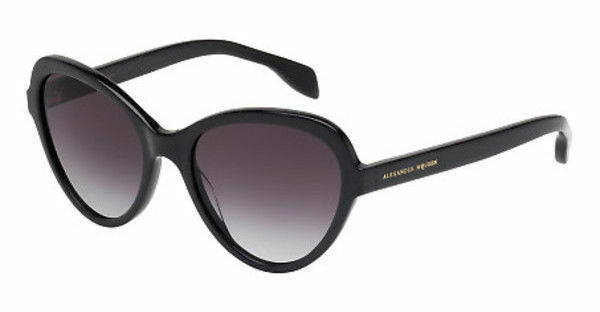 84978d24e7db9 Alexander McQueen Sunglasses Black Am0029s 001 51mm Cat Eye Women Fast Ship  for sale online