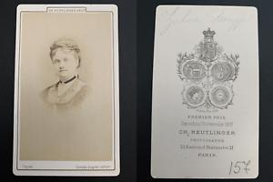 Reutlinger-Paris-Zulma-Bouffar-actrice-Vintage-carte-de-visite-CDV