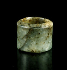 EARLY CHINESE NEPHRITE JADE ARCHER'S THUMB RING