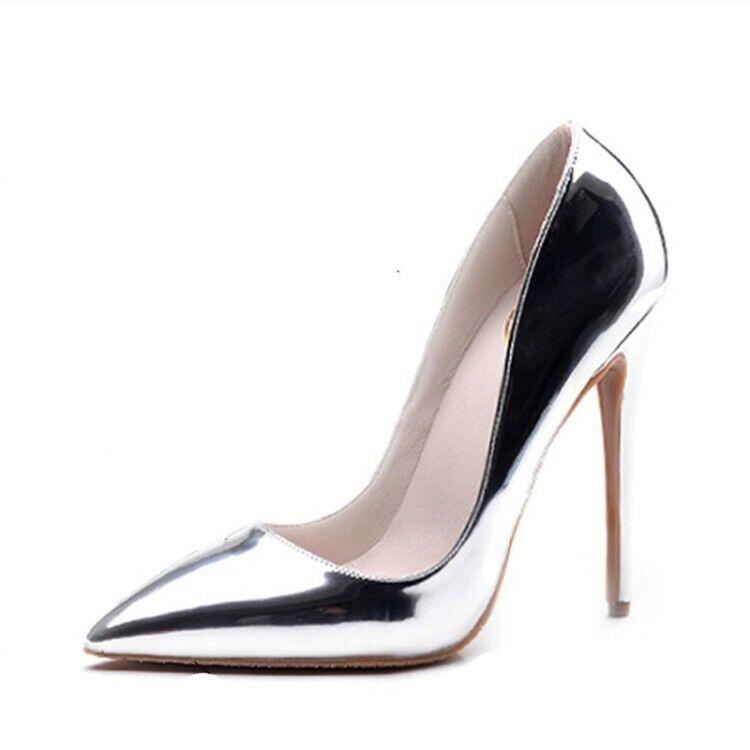 donna Pointy Toe Shinny Leather Stilettos High Heel OL Pumps scarpe Hot Sale Sz