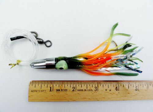"""5/"""" Bullet Jet Head Mylar Squid Rigs Trolling Fishing Lures SELECT COLOR /& PIECES"""