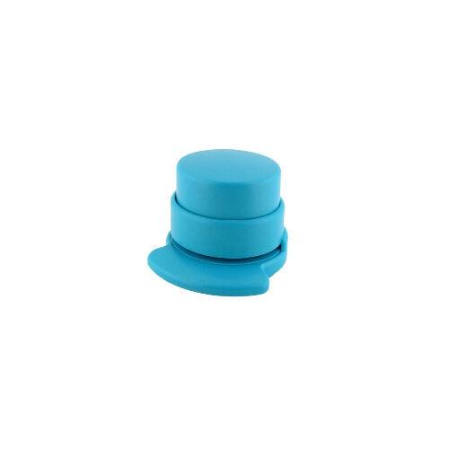 Staple Free Stapleless Stapler No Staple BRIGHT BLUE ROUND #446