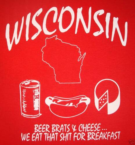 wisconsin beer new funny cheese brats vintage badgers state home pride t shirt