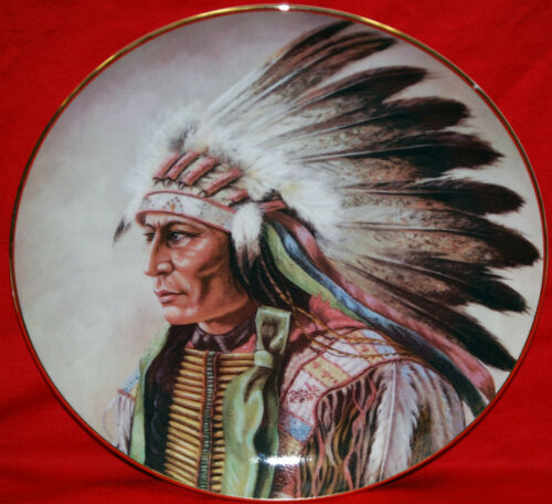 """Courage of the Arapaho"" 1991 Indian Artaffects Plate"