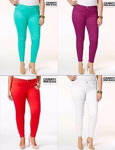 3879109da4515 NWT  59.00 Sz 20   22 Plus Celebrity Pink Skinny Stretch Jeans Green ...