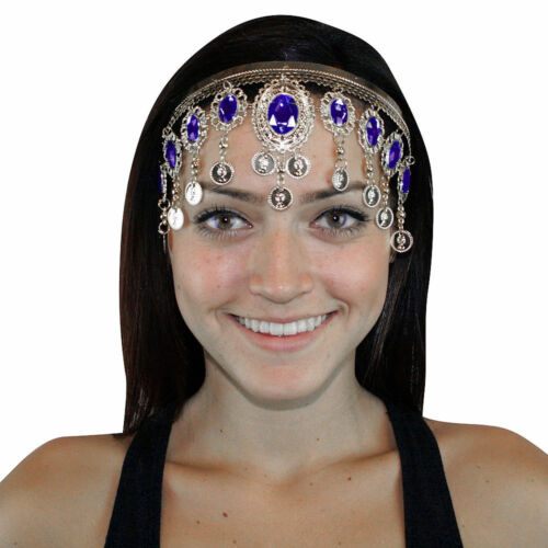 Silver Headband Belly dance Headdresses Hair Clip Sale! Costume Dress up