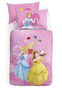 Completo Copripiumino Caleffi Disney.Dettagli Su Parure Copripiumino Principesse Cenerentola Aurora Belle Digitale Disney Caleffi