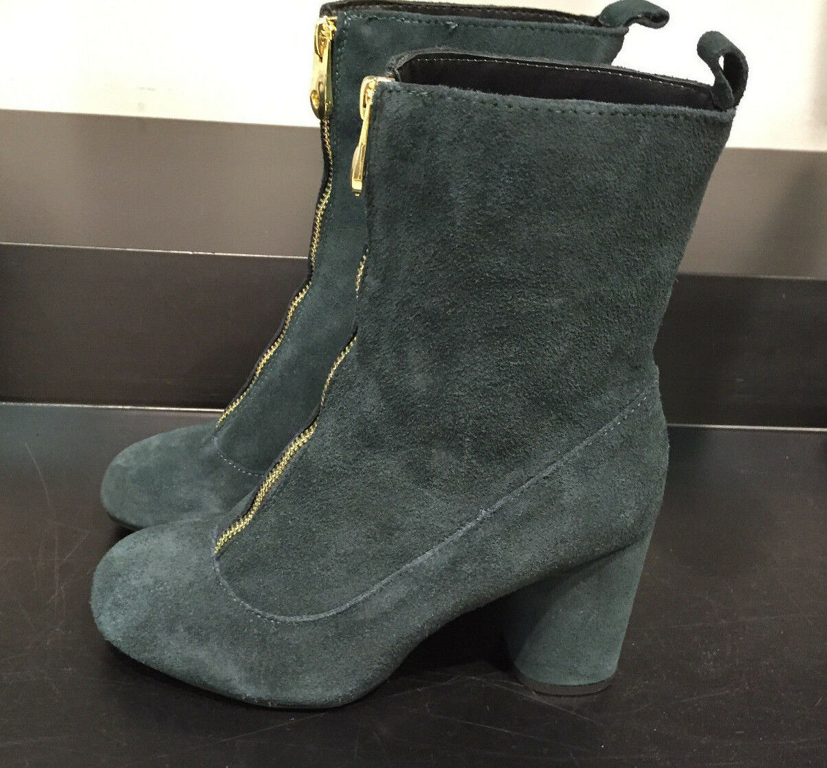 ZARANEW Damenschuhe RETRO HIGH HEEL BOOTIES WITH ZIP 37-40 GREEN 37-40 ZIP Ref. 7114/001 f88c94