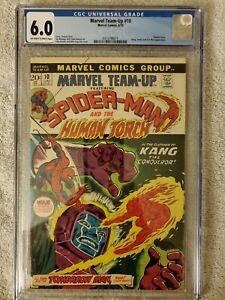 034-Marvel-Team-Up-034-10-Spider-Man-amp-Torch-cgc-6-0-1973-Marvel-FN-BX90