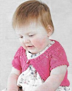1fd7126172f1e Image is loading Baby-love-heart-shrug-knitting-pattern-newborn-3-