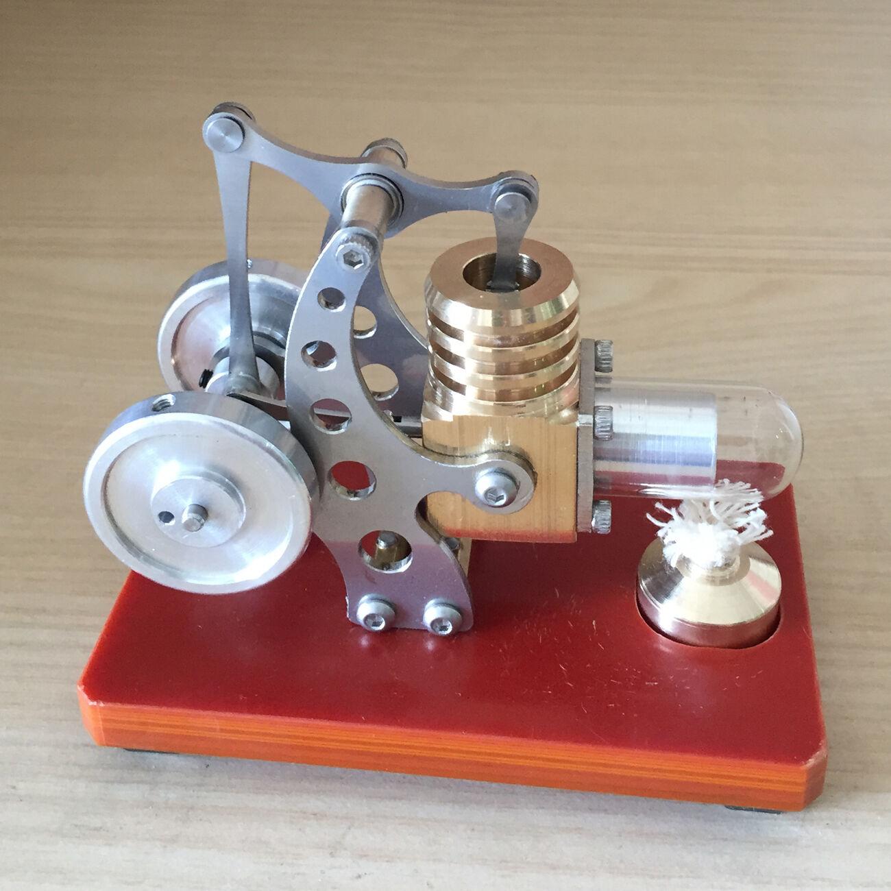 ミニスターリングエンジンモデルトイマイクロ熱風エンジン発電機モーターモデル玩具