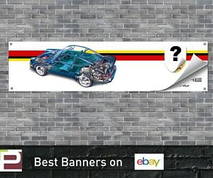 Porsche 911 Turbo Banner for Garage, Workshop, Pit Lane, 993 etc