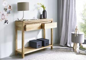 beistelltisch wandtisch konsolentisch vollmassiv montiert wildeiche ge lt tisch 4059559010295 ebay. Black Bedroom Furniture Sets. Home Design Ideas