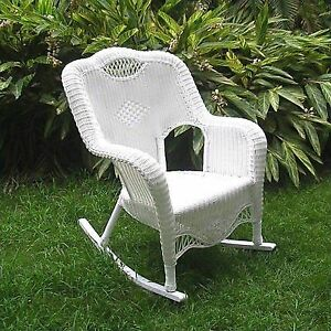Fabulous International Caravan Riviera Wicker Resin Aluminum Large Patio Rocking Chair Antique Moss Dailytribune Chair Design For Home Dailytribuneorg