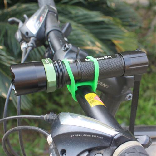 Universal Fahrrad Lenkerhalter Halterung Für Taschenlampe Schwarz CL aq