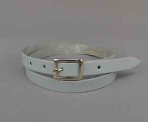 "Light Baby Blue Skinny Real Leather Belt Handmade Bright 3//4/"" Ladies 20mm"