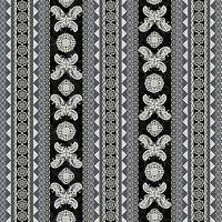 Studio E - Heartsong - Black Lace Butterfly Stripe Cotton Fabric Yardage A4