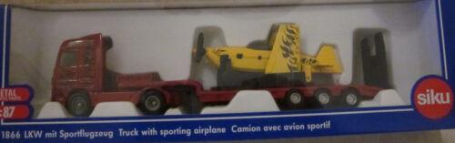 1 von 1 - LKW mit Sportflugzeug , Siku Super 1:87,  Art.1866, Neuheit, OVP
