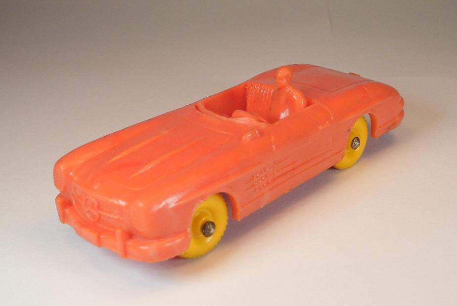 Tomte laerdal Norway MERCEDES BENZ 300sl cabriolet Orange 12cm test série rar  619