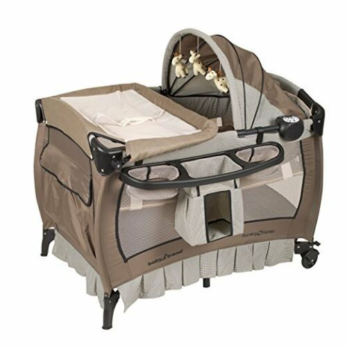Baby Crib Nursery Playard Infant Changing Parent House Bassinet Music Table
