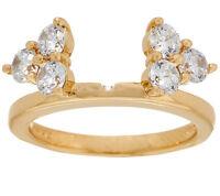 Qvc J330815 14k Gold Clad Diamonique Cluster Insert Ring - Size 9