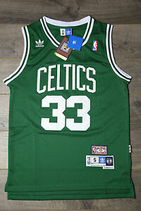 online retailer b7b36 2dc03 Details about Larry Bird #33 Boston Celtics Retro Hardwood Classics  Swingman Green Jersey NWT
