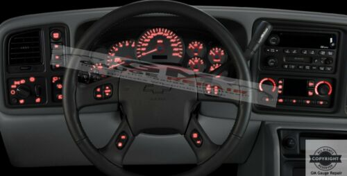 03 04 05 06 Silverado Tahoe Left Dash Switches bulb to LED Upgrade Kit in Red