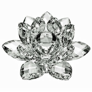 3-034-High-Quality-Clear-Crystal-Lotus-Flower-with-Gift-Box-USA-Seller