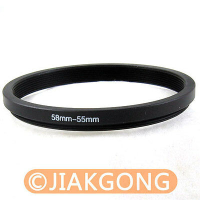 55mm to 58mm 55-58 mm 55-58mm 55mm-58mm Stepping Step Up Filter Ring Adapter UK