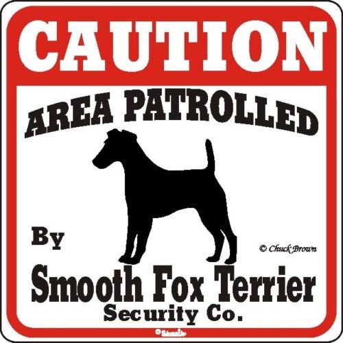 Smooth Fox Terrier Caution Dog Sign