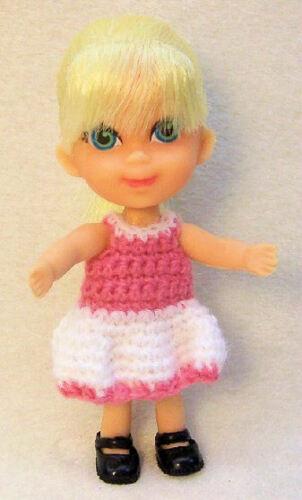 2pr Fits Liddle Kiddle dolls MaryJanes PK//BK Doll Shoes