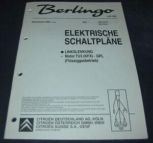 Werkstatthandbuch-Citroen-Berlingo-I-elektrische-Schaltplaene-Fluessig-Gas-06-1999
