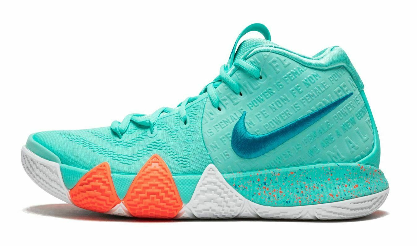 NIke Kyrie 4 Size 18 Light Aqua Power is Female