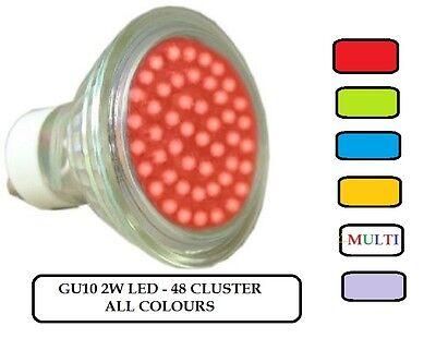 GU10 LED LIGHT BULBS  RED~GREEN~BLUE~MAGENTA~AMBER