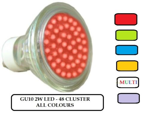 GU10 LED LIGHT BULBS  RED~GREEN~BLUE~MAGENTA~AMBER