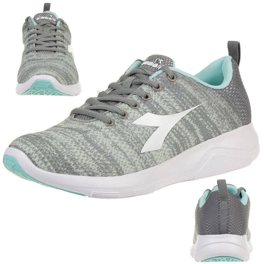 Diadora X Correr Claro 3W Mujer Zapatos Running Zapatilla Deportiva gris