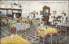 Vicksburg MS Southern Tea Room - Black Wait Staff Linen Postcard
