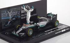 1:43 Minichamps Mercedes F1 W07 GP Abu Dhabi, World Champ Rosberg 2016