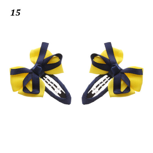 2pcs Cute Bow Bowknot Kids Girls Baby Hairpin Hair Clip Barrette Accessories