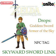 Link Skyward Sword Amiibo NFC Tag - Nintendo Zelda Breath Wild