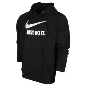Nike-Men-039-s-Just-Do-It-Swoosh-Logo-Graphic-Fleece-Pullover-Hoodie