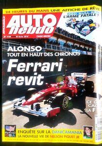 AgréAble Auto Hebdo Du 10/02/2010; Red Bull Rb6/ Alonso/ Danicamania, Nelson Piquet Jr Qualité SupéRieure (En)