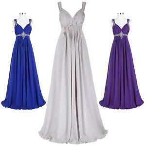Gris-Gasa-Largo-Dama-De-Honor-Graduacion-Formal-Vestido-fiesta-noche-18
