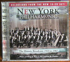 NEW YORK PHILHARMONIC The Historic Broadcasts 1923 to 1987 Selections CD (1997)