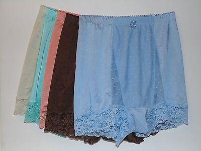 "Rhonda Shear ""Pin-Up Girl"" Mesh Dot and Lace Panty 5-pack-Seaside-Large-New"