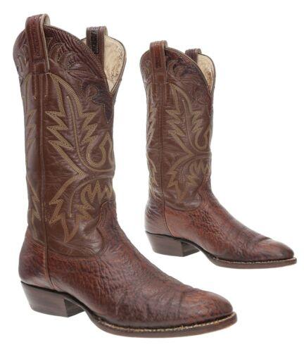 CHRIS ROMERO Cowboy Boots 9 C Mens EXOTIC Sharkski
